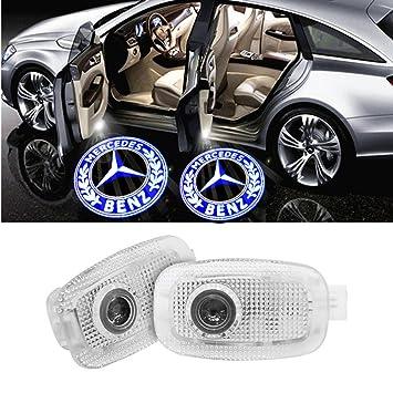 For WW204-AMG LED Entr/ée /Éclairage HD voiture Porte lumi/ère QJZoncuji 2 Xvoiture de porte Logo /Éclairage