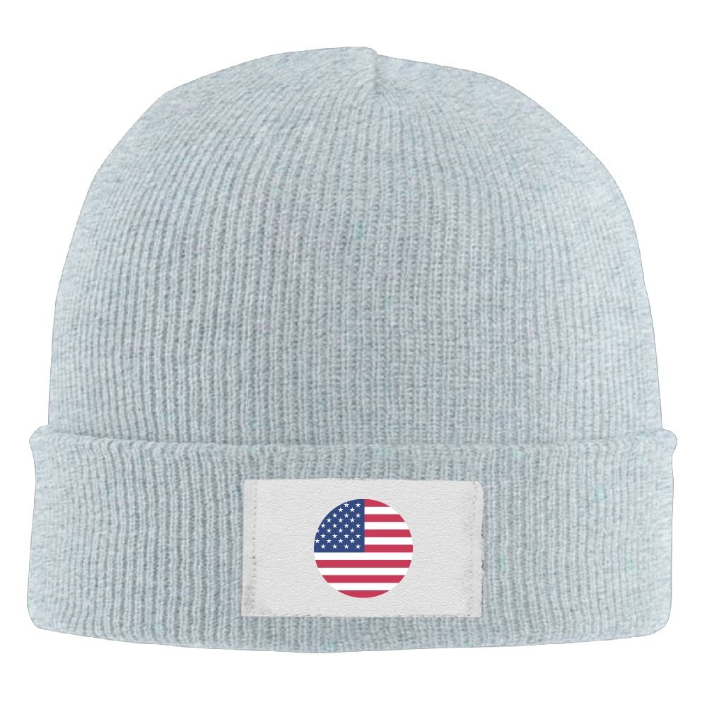 PWLLS Unisex American Flag of Circle Wool Beanie Cap Cool Beanie Smart Cap Fashion For Outdoor /& Home