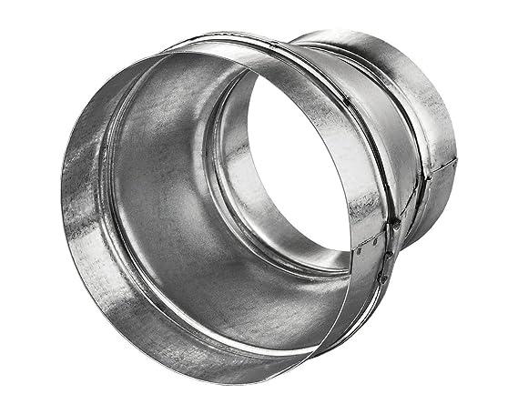 Reducción/Ampliación para tubos de ventilación, 150 mm a 200 mm, de acero
