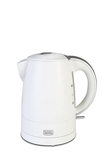 Black + Decker BD BXKE0101IN 1-Litre Electric Kettle (White)