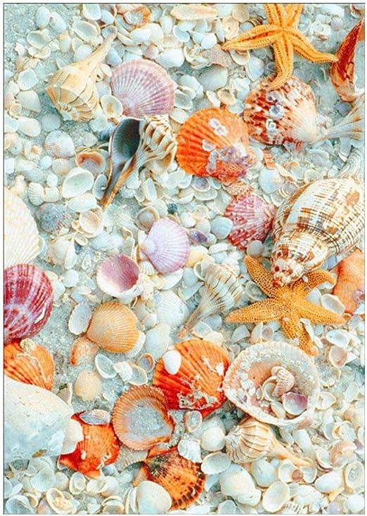Mikolot 5D - Mosaico bordado con diseño de estrella de mar y ...