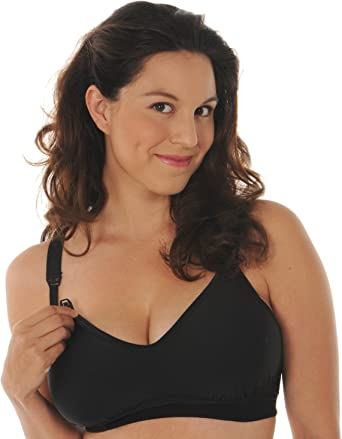 Melinda G Tee-Shirt Soft-Cup Nursing Bra Black #2115 fab Curvy Voluptuous