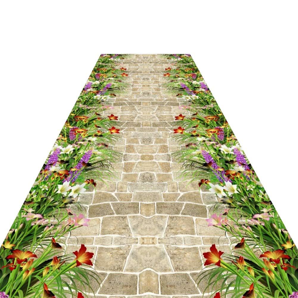 HAIPENG-Läufer Teppiche Flur Extra Lang Lang Lang Teppich Nicht Skid Passage Eingang Matte Waschbar Zum Wohnzimmer Esszimmer (Farbe   B, größe   1x4m) B07MK734HW Teppiche 85092b