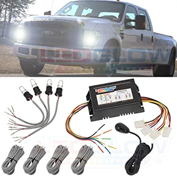 Amazon.com: LEDGlow Automotive 4pc HID Xenon Strobe Kit: Automotive