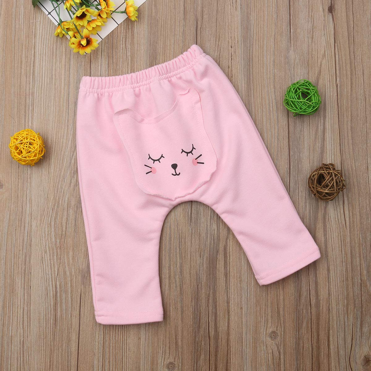 Newborn Infant Girls Boys Cute Animal Printed Cotton Legging Long Pants