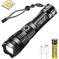 Linterna LED High Lumens XHP50 USB, recargable, con zoom, impermeable, iluminación exterior con indicador de…