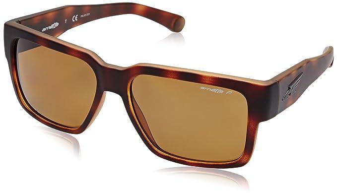 1d49e40dba Image Unavailable. Image not available for. Color  Arnette Supplier Unisex  Polarized Sunglasses - 2152 83 Fuzzy Havana Brown
