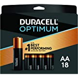 Duracell Optimum AA Batteries | 18 Count Pack | Lasting Power Double A Battery | Resealable Package for Storage | Alkaline AA