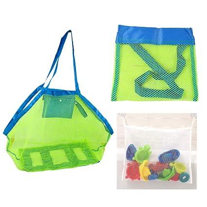 Amazon.com: Paraphee - Bolsa de malla para juguetes de playa ...
