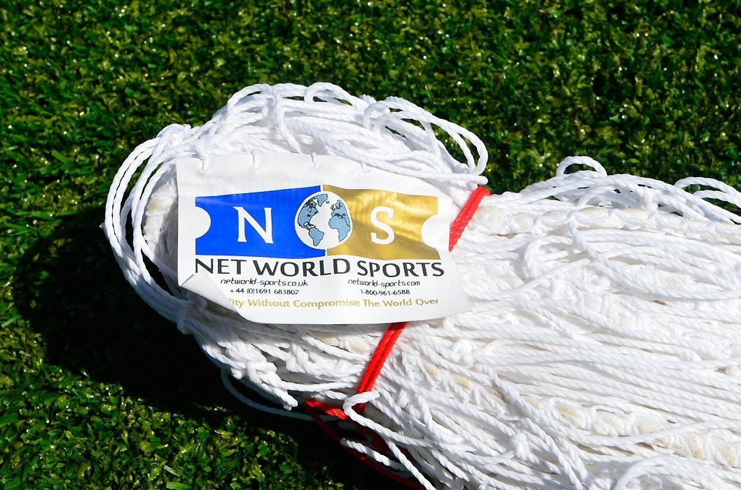 Junior Size Soccer Goal Net - 8x6 / 8' x 6'HEAVY DUTY (Choice Of Single Or Pair) (2. Economy Grade 8 x 6 Net (pair)) by Net World Sports