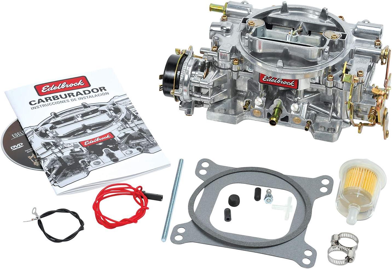 Edelbrock 1411 Performer 750 CFM Square Bore 4-Barrel Air Valve Secondary Electric Choke New Carburetor