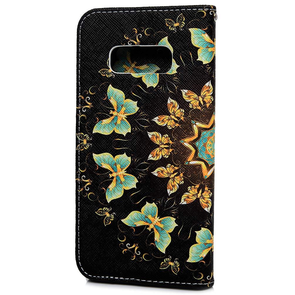 Ananas Mlorras H/ülle f/ür Samsung Galaxy S10e 5.8 Zoll Gemalt Leder Handyh/ülle Klappbares Brieftasche Schutzh/ülle Wallet Case Cover mit Integrierten Kartensteckpl/ätzen Schmetterling Flamingo