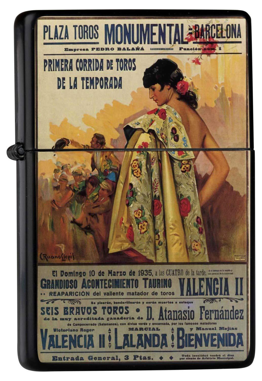 leotie Encendedor De Gasolina Impreso Recargable Cartel ...