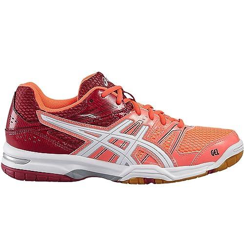 Asics B455n 0601 - Zapatillas de Voleibol para Mujer Mehrfarbig (Flash Coral/White/