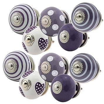10 Set, 10 _ Set - 717 Kit de E Violet Meubles Boutons, meubles ...