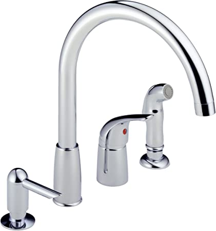 Peerless P88900LF Waterfall Single Handle Widespread Kitchen Faucet ...