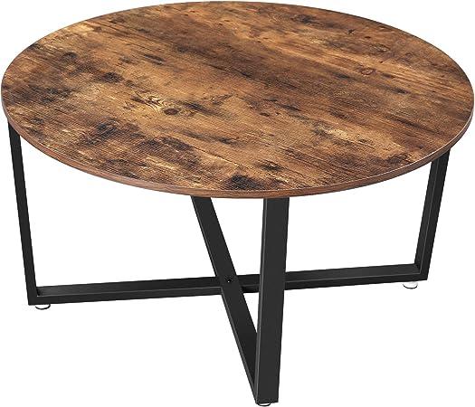 Vasagle Table Basse Ronde Table De Salon Style Industriel Cadre