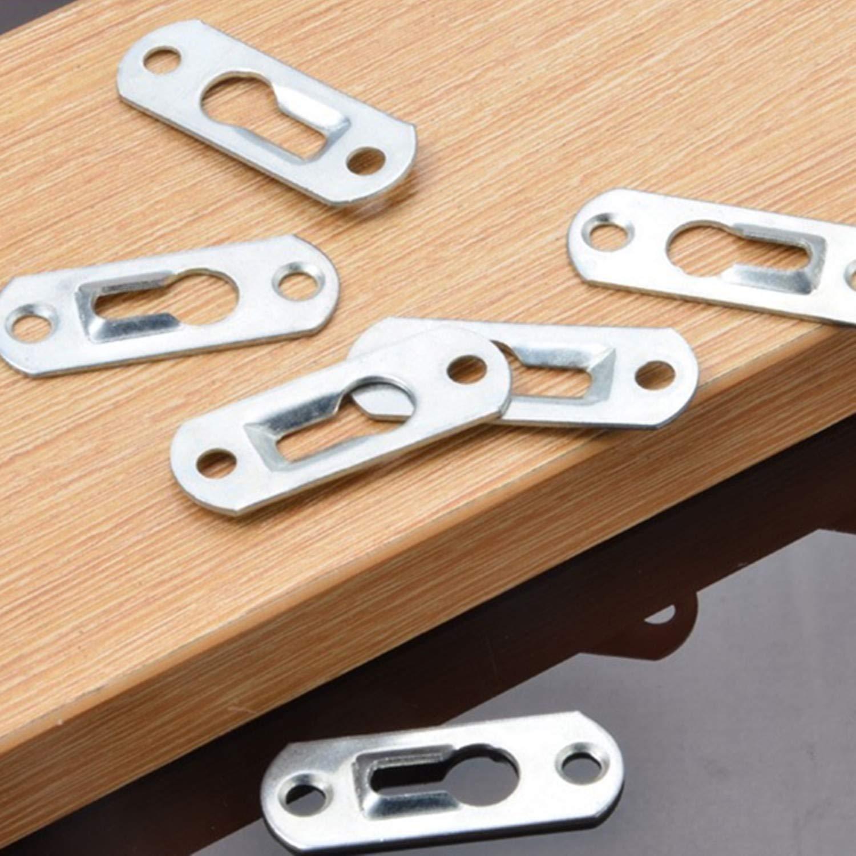 45 mm x 16 mm specchi cornici per quadri 20 ganci per serrature con 40 viti di fissaggio in metallo