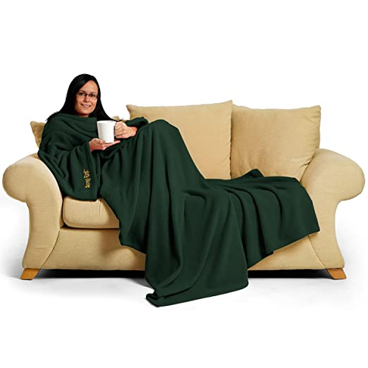 7 opinioni per Snug Rug- Coperta con maniche Deluxe per adulti, 214 x 152 x 1 cm, colore: Verde