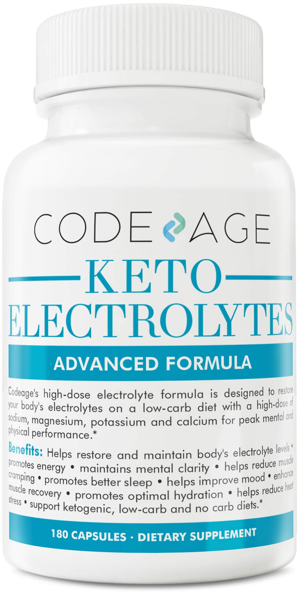 Codeage Keto Electrolyte Supplement Capsules for a Low Carb Diet or Ketogenic Diet, 180 Capsules by Codeage