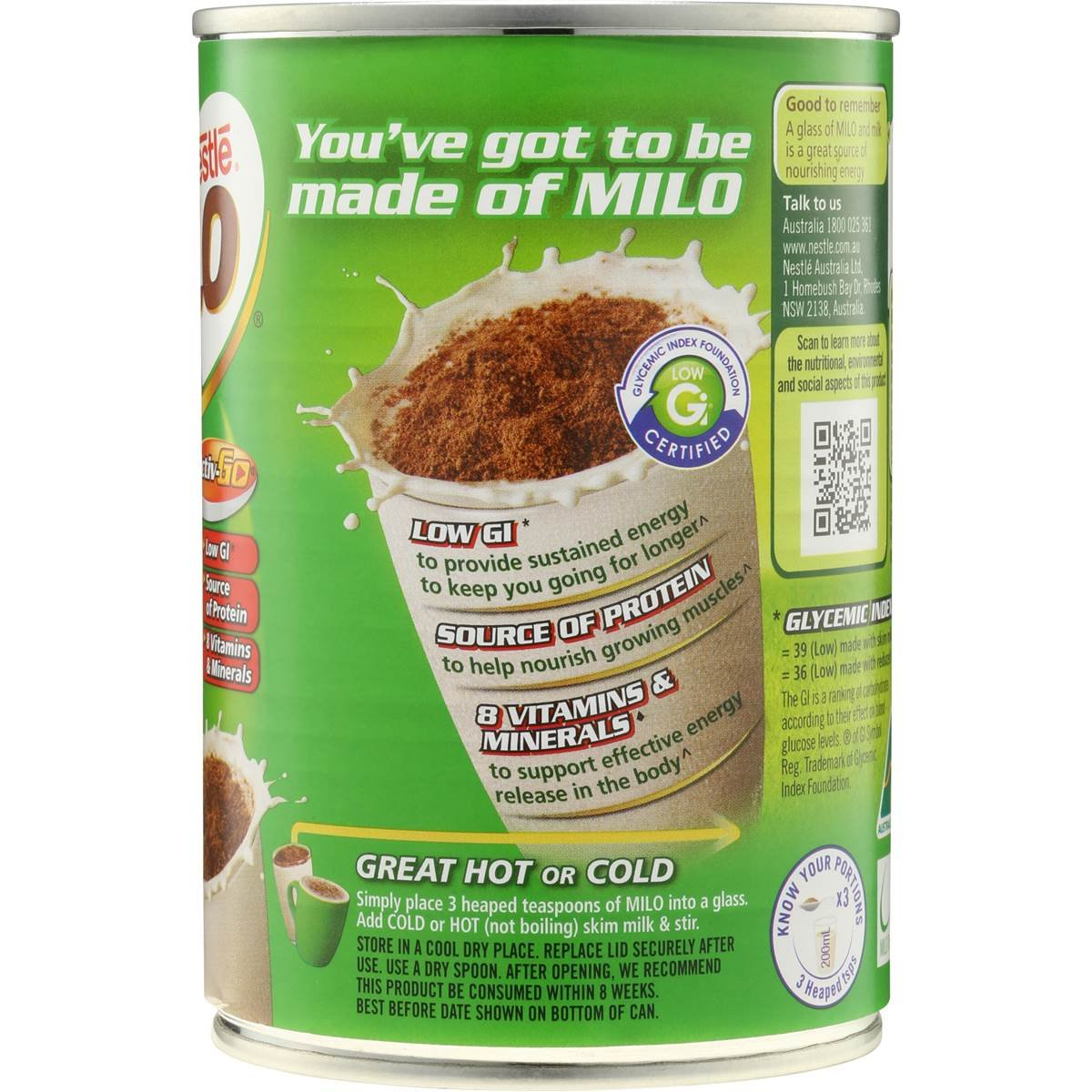 Nestle Milo Instantánea De Chocolate Malteado Bebida 200g: Amazon.es: Hogar