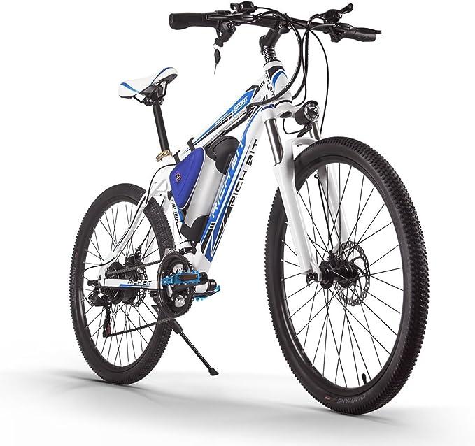RICHBIT Bicicleta de Montaña Bicicleta Electrica 250W Motor Extraíble Batería de iones de litio extraíble Marco de Aluminio Horquilla de Suspensión Freno de disco Unisex: Amazon.es: Deportes y aire libre