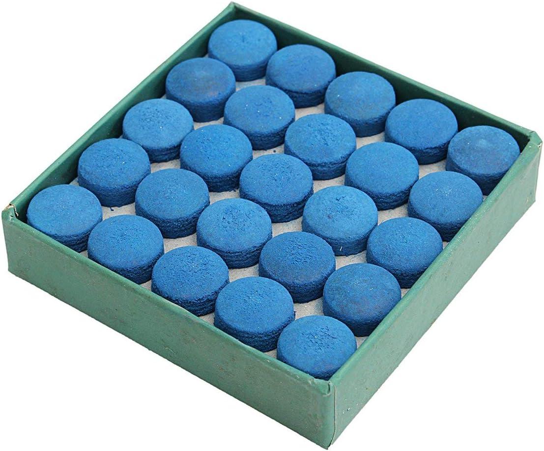 AYUN - 50 Puntas de Taco de Billar para Tacos, de Piel, Color Azul ...