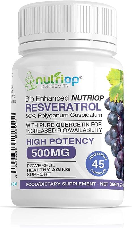 Bio Enhanced Nutriop Resveratrol With Pure Quercetin 500mg