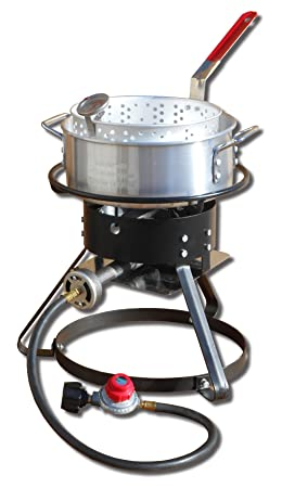 King Kooker 1217 Outdoor Cooker Set, Silver
