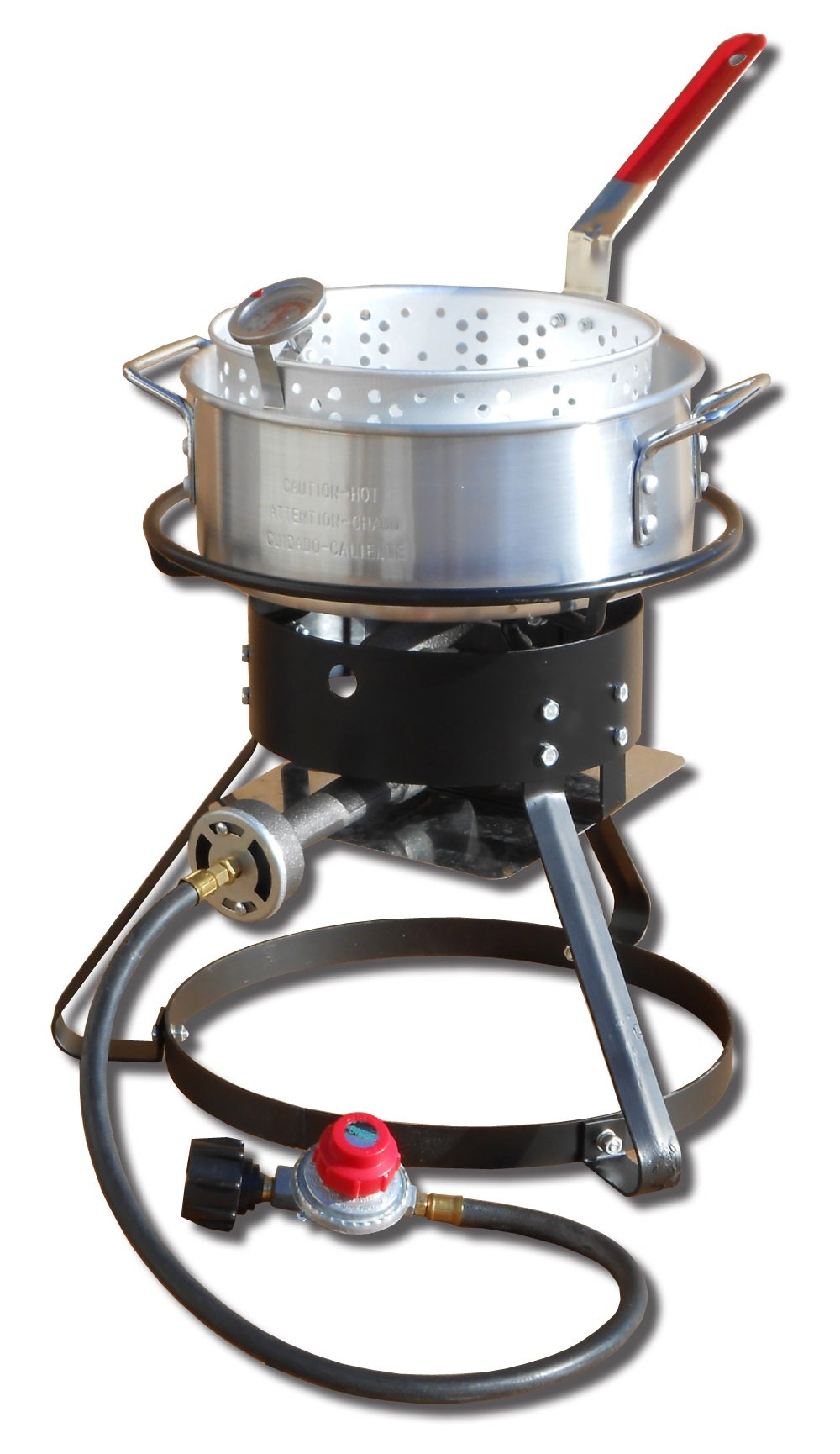 King Kooker 1217 Outdoor Cooker Set, Silver