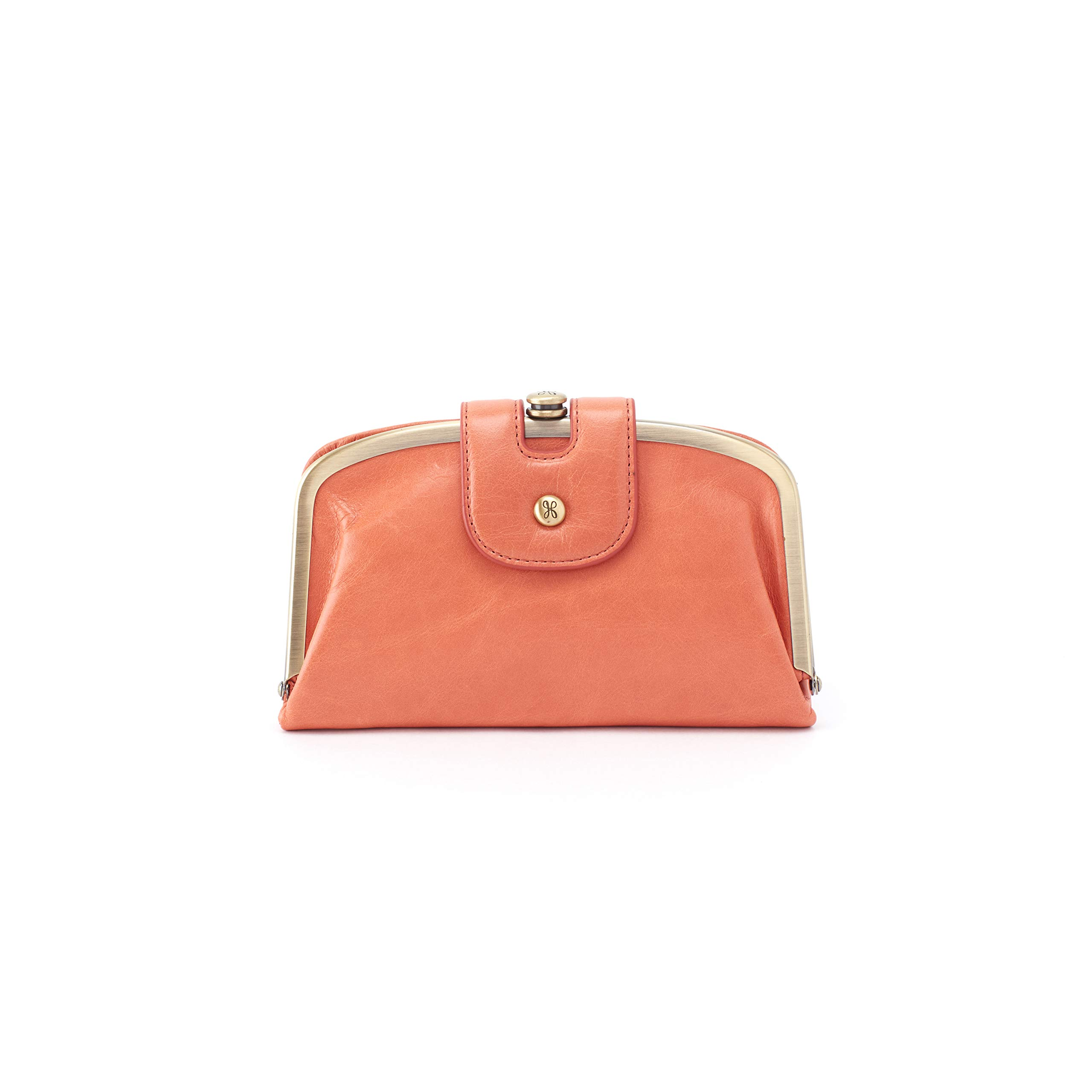 Hobo Womens Halo Vintage Leather Compact Wallet (Dusty Coral)