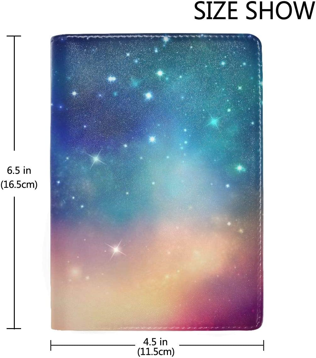 Sky Spots Glare Fashion Leather Passport Holder Cover Case Travel Wallet 6.5 In