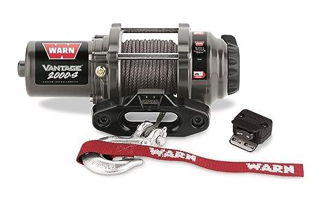 WARN 89021 Vantage 2000-S Winch - 2000 lb. Capacity on