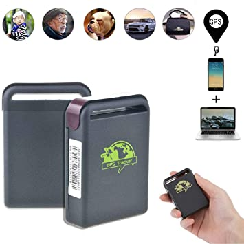 TKSTAR Personal GPS Tracker Mini Tracking Device with SOS Button SMS Alert  Long Range GPS Tracker Canada for Child/Kids /Elderly/Disabled TK102B