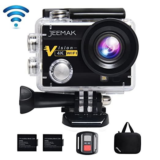 17 opinioni per JEEMAK 4K Action Cam 16MP Action Camera WIFI Sport Action Camera Videocamera