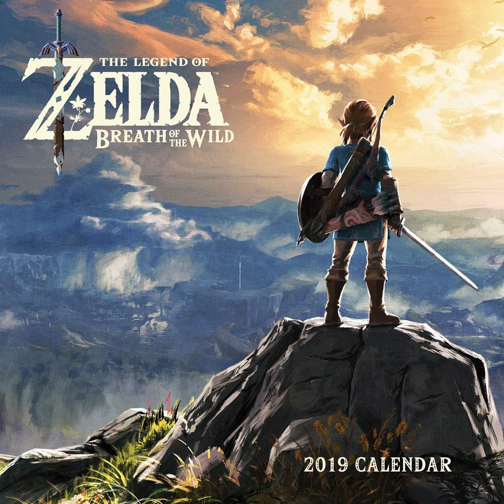 2019 Wall Calendar, Legend of Zelda: Breath of the Wild: Amazon.es ...