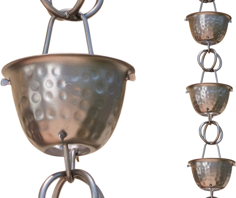 Bronze Spring Flower Rain Chain Multi Color Metal 55 in