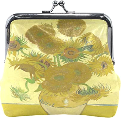 Floral Sunflower Key Buckle Coin Purse For Womens