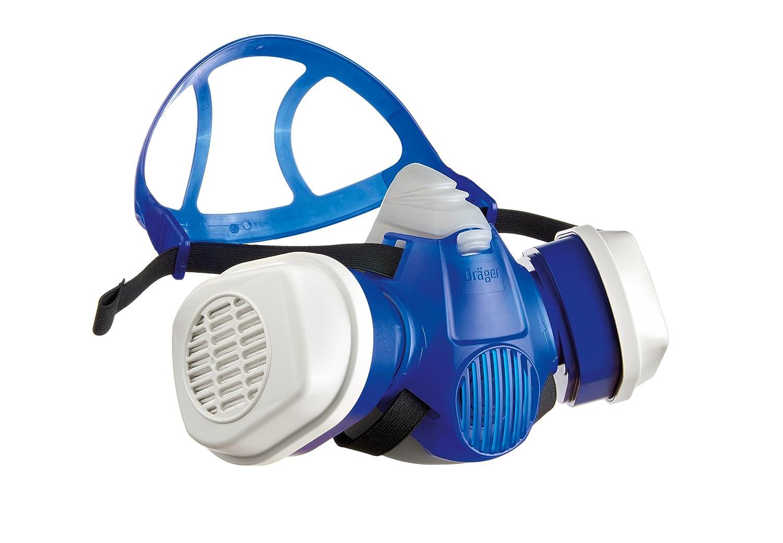 Kit respiratoire Dräger X-plore 3300® Demi-Masque Peinture avec filtres A2P3RD remplaçables adapté aux peintures solvants & polyuréthanes et aux poussières - Taille M Dräger R57793