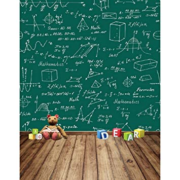 aodicon 5 x 7ft fotografía fondo pizarra matemáticas fiesta ...