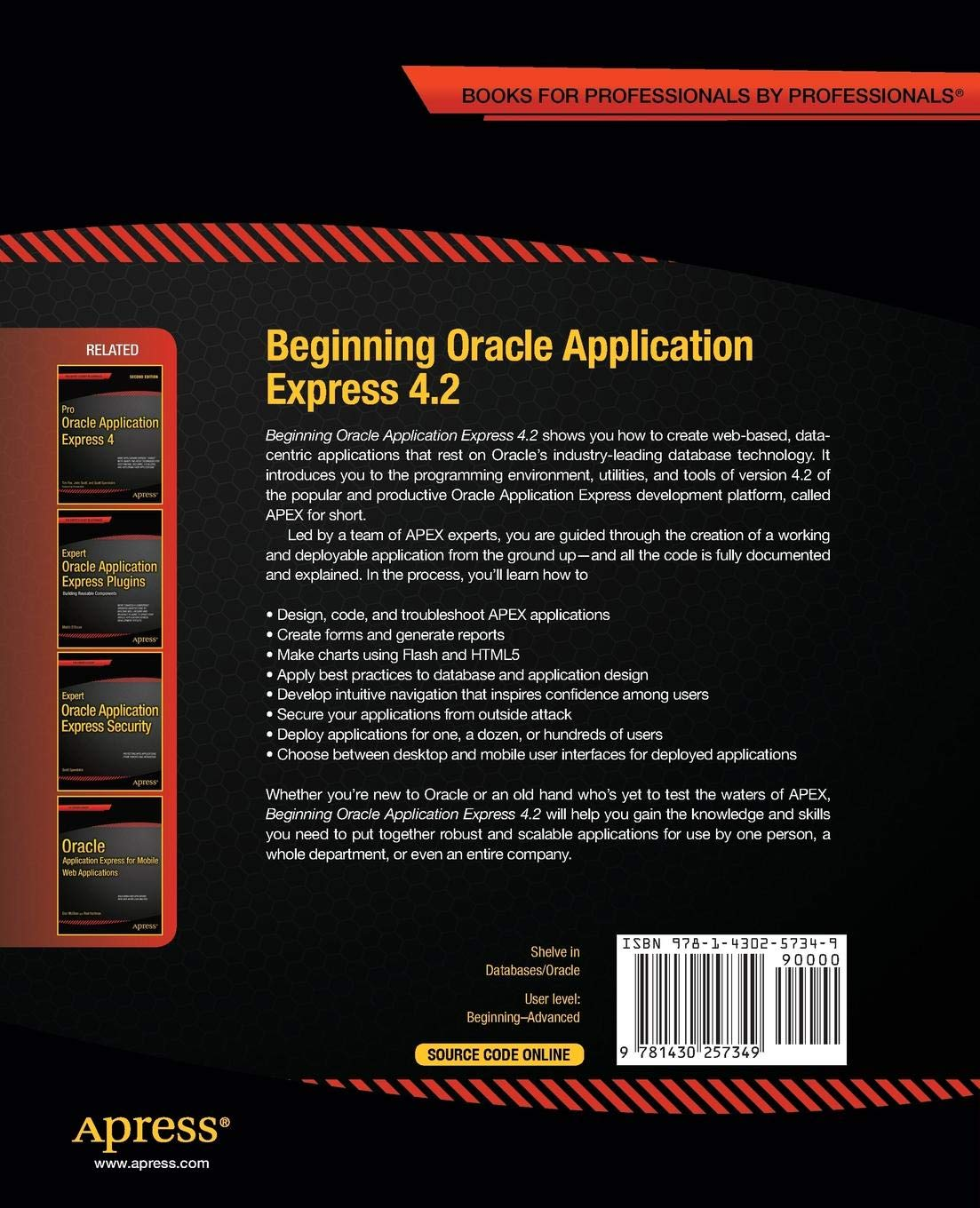 Buy Beginning Oracle Application Express 4 2 (Expert's Voice