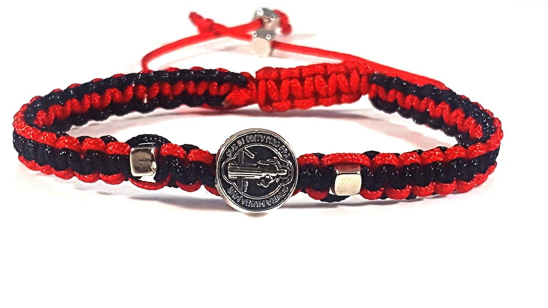 33bd6fcca3b2 Amazon.com: Sequoia Red and Black Saint Benedict Bracelet/Pulsera de ...