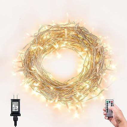 Amazon christmas lights outdoor string lights loende 72ft christmas lights outdoor string lights loende 72ft 200 led 8 modes indoor string lights with aloadofball Choice Image