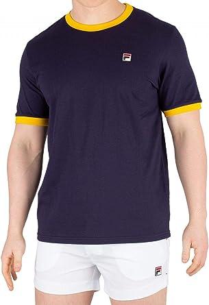 Fila de los Hombres Marconi Camiseta, Blanco: Amazon.es: Ropa y accesorios
