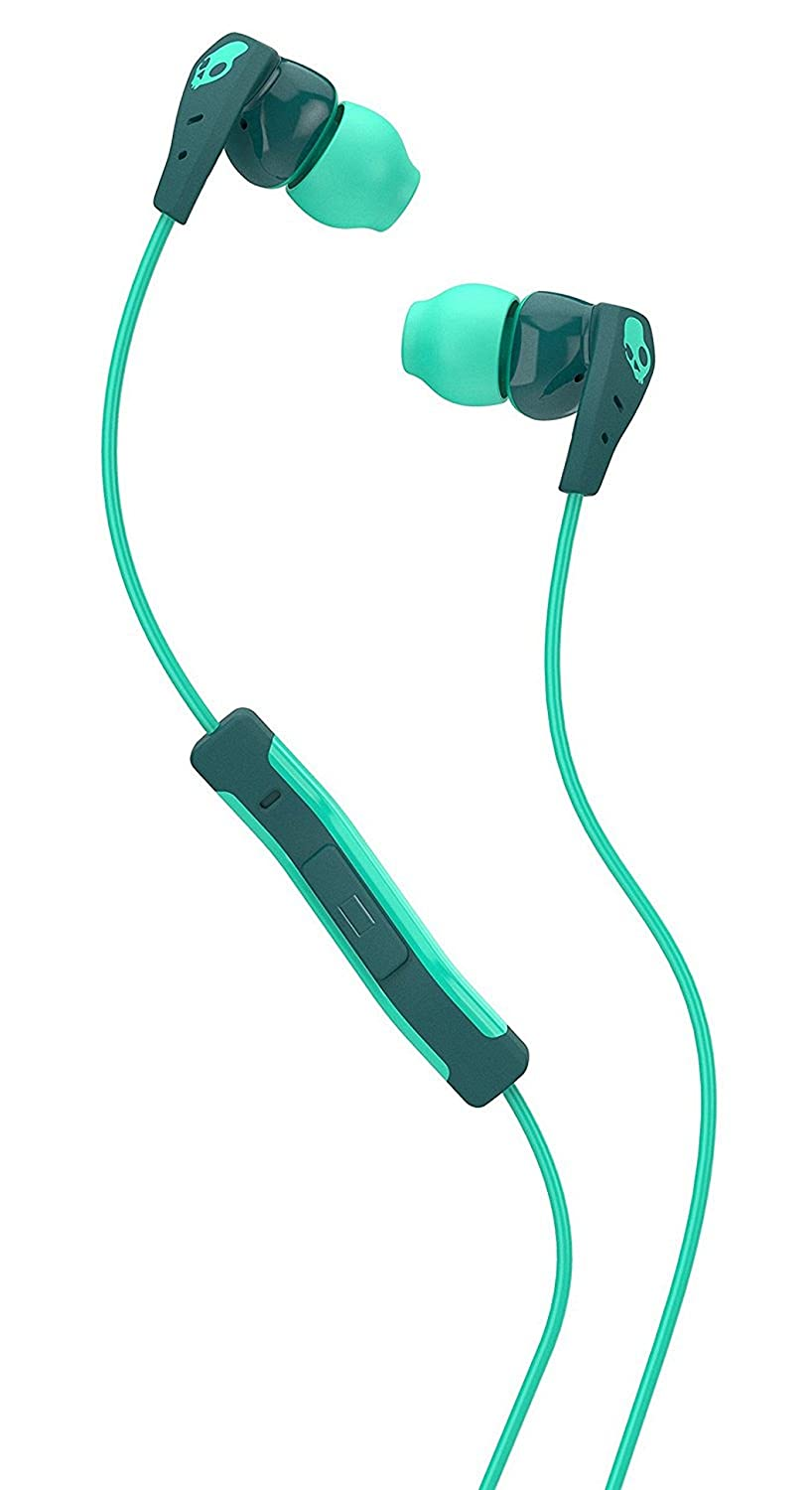 Skullcandy Method In-Ear Sweat Resistant Sports Earbud, Teal/Green