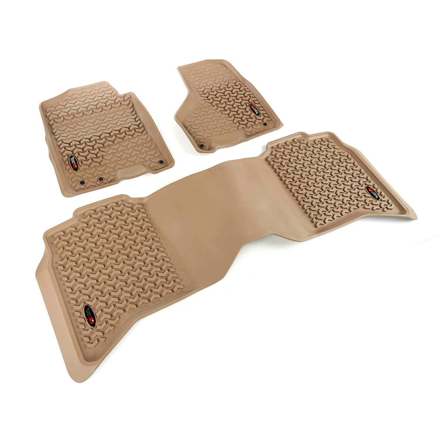 Rugged Ridge All-Terrain 83989.42 Tan Front and Rear Floor Liner Kit For Select Dodge Ram, Ram 1500, 2500 and 3500 Models