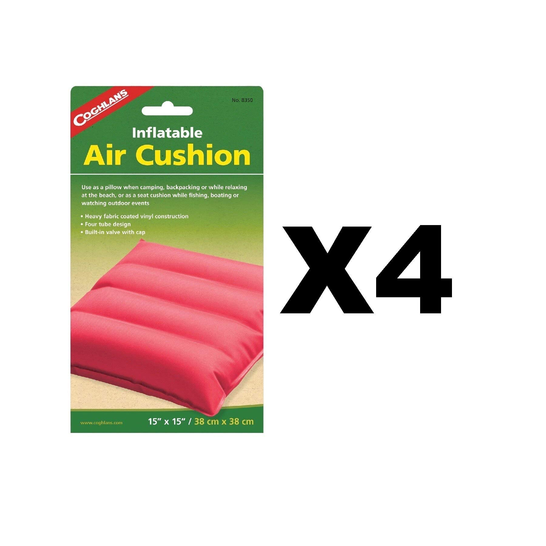Coghlan's Inflatable Air Cushion Fabric Coated Vinyl Pad Assorted Colors(4-Pack) by Coghlan's