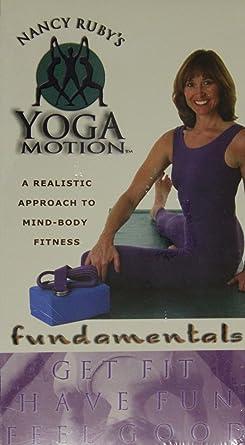 Amazon com: Nancy Ruby's Yoga Motion Fundamentals VHS: Nancy