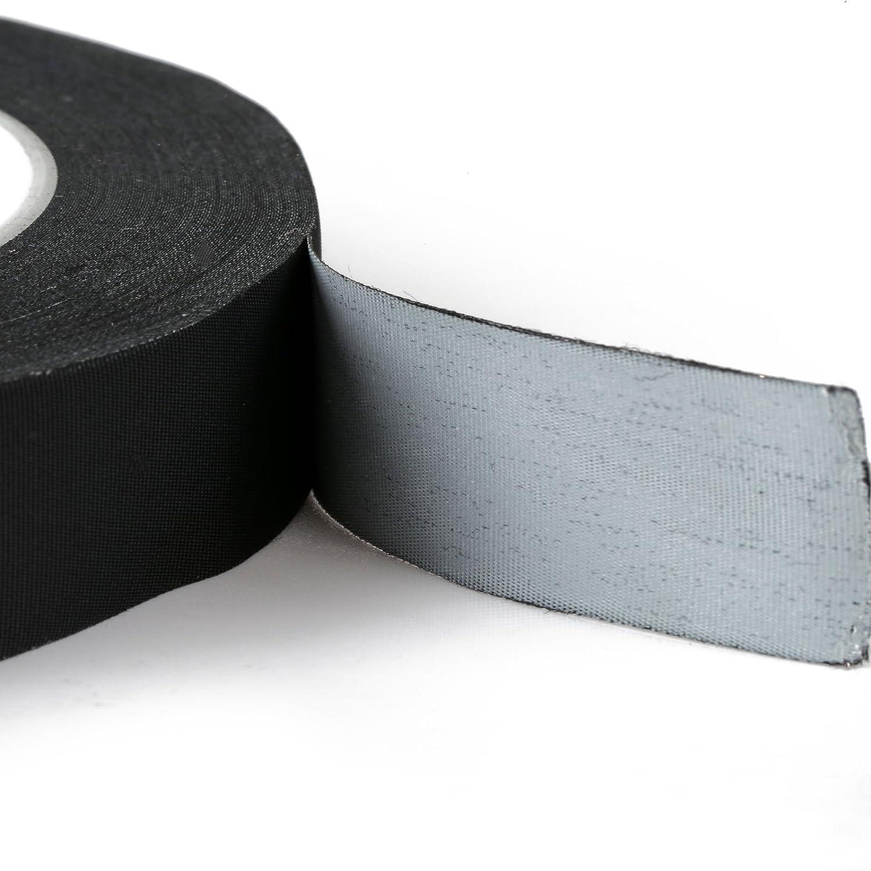 LIHAO 30M Elektro-Isolierband Schwarz Elektriker Klebeband Isoband Selbstverschweissend
