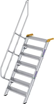 GÜNZBURGER STEIGTECHNIK Escalera industrial de aluminio 60°, 800x7: Amazon.es: Bricolaje y herramientas